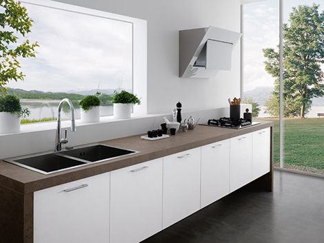kitchen design with no top cabinets.  Modern Kitchens Without Upper Cabinets by Treo