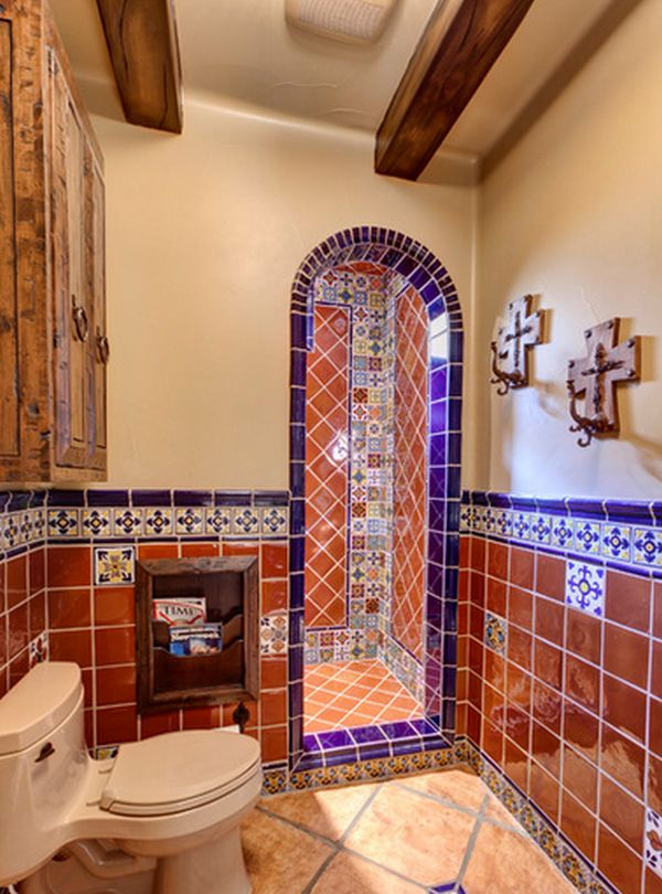 Home decorating ideas the spanish style for Bathroom tiles spain