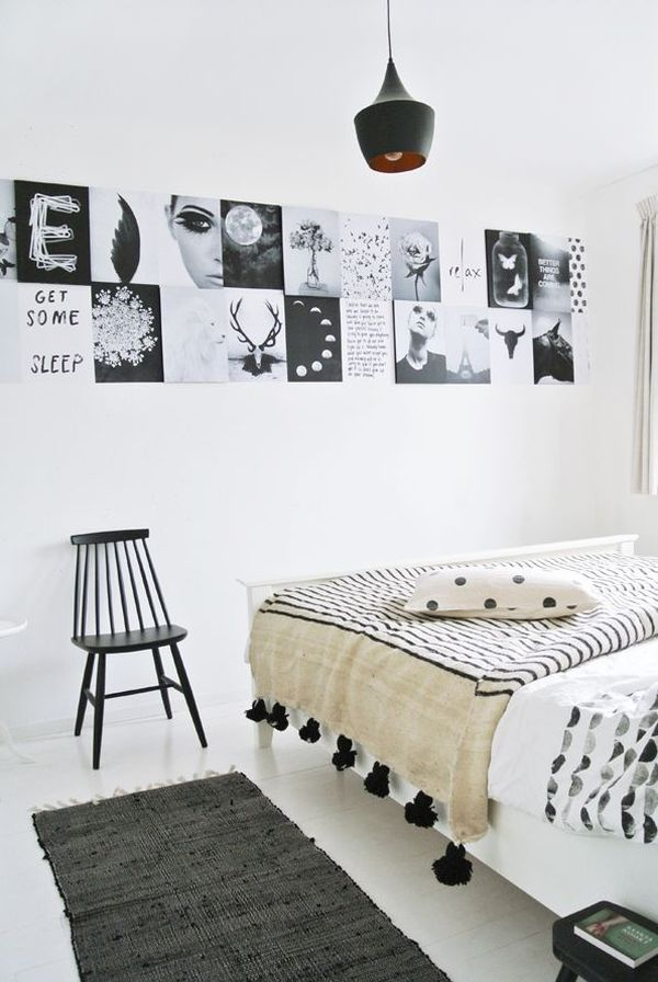 Amazing White Walls With Black Accents. Nice Design