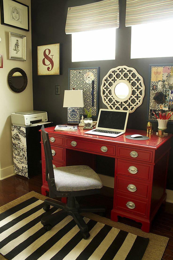 Choose A Bold Color For Your Desk.