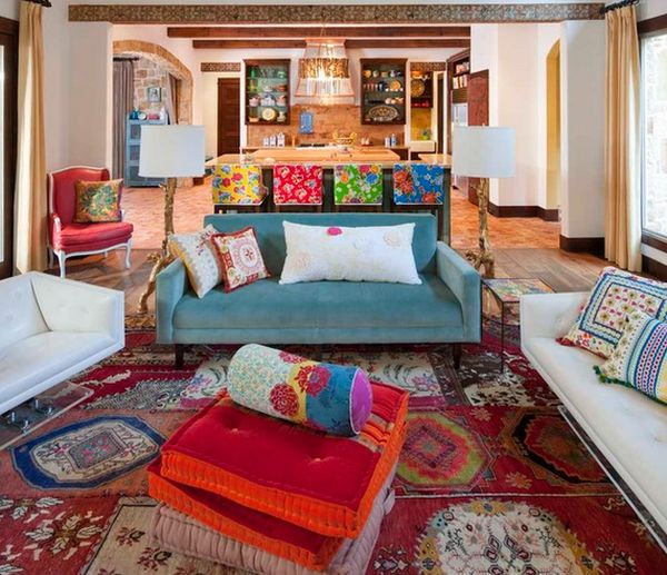 How to decorate your home with vibrant mexican flair for Mexican inspired living room ideas