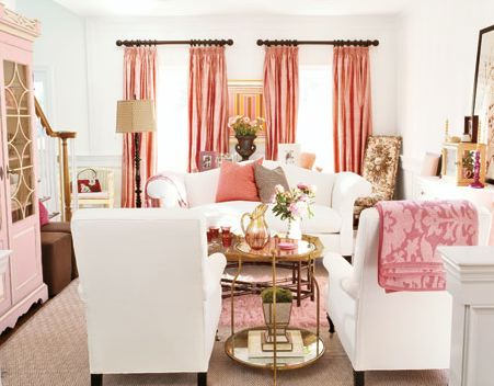 Etonnant Pink Living Room