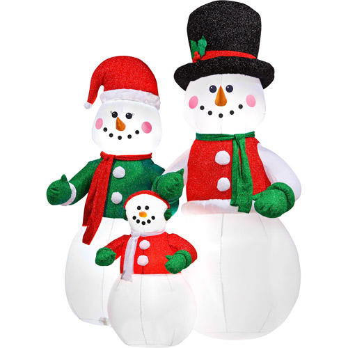 view in gallery airblown inflatable snowman family christmas decor - Walmart Christmas Decorations