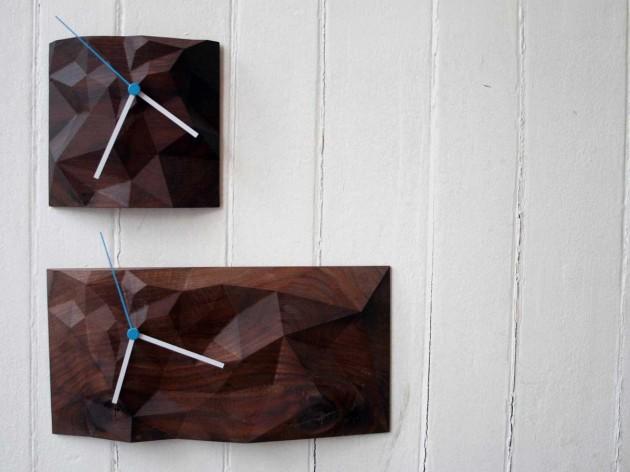 Block wall clock design