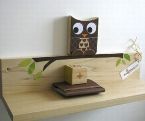 Chocolate Brown Owl Shelf