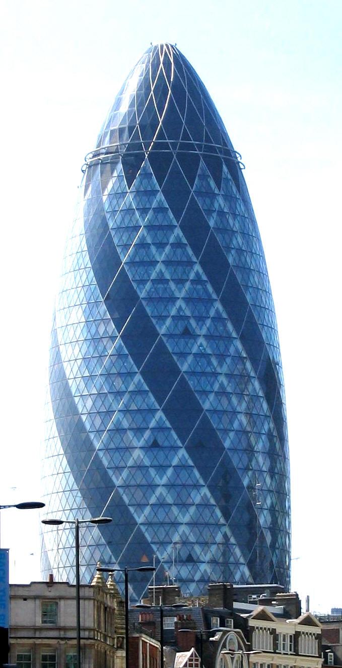 London Gherkin  an unusual eggshaped building