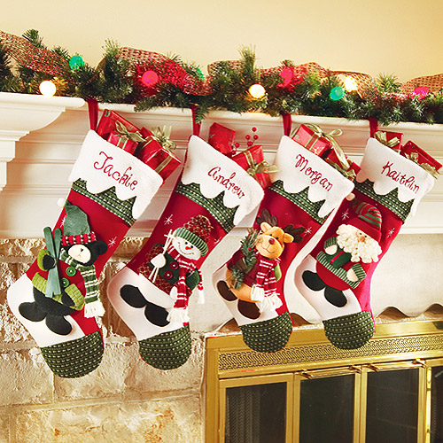 10 walmart christmas decor - Christmas Socks Decoration