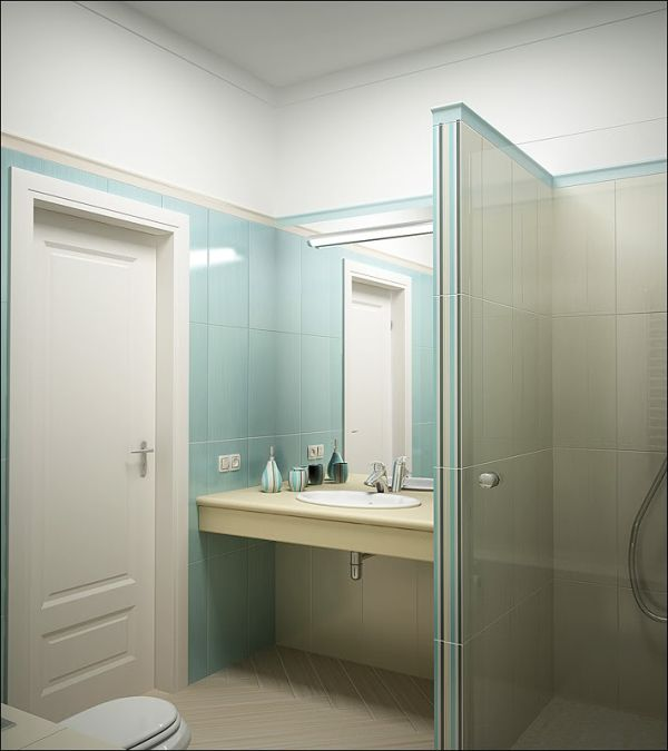 view in gallery - Small Space Bathroom Design