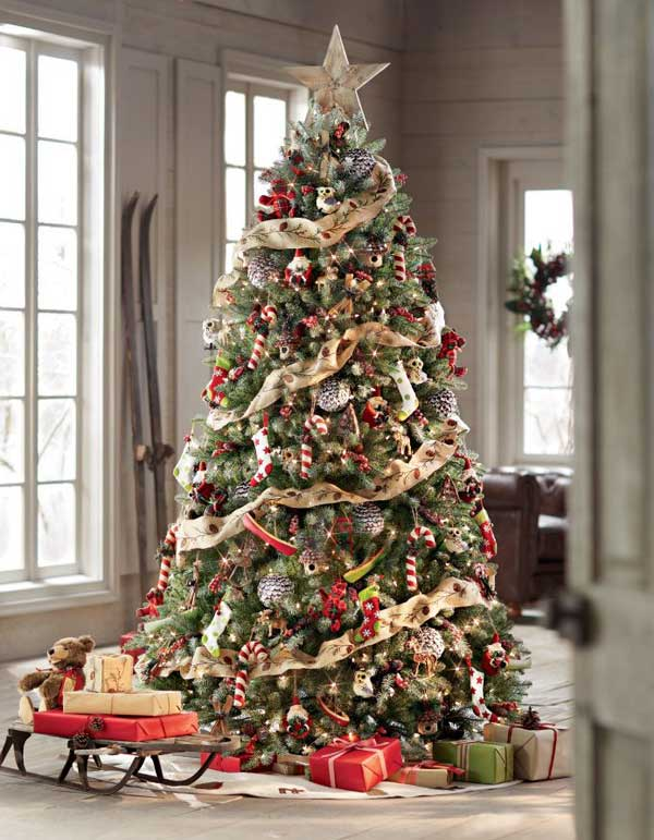 13 off beat ways to decorate the christmas tree this year - Simple Country Christmas Decorating Ideas