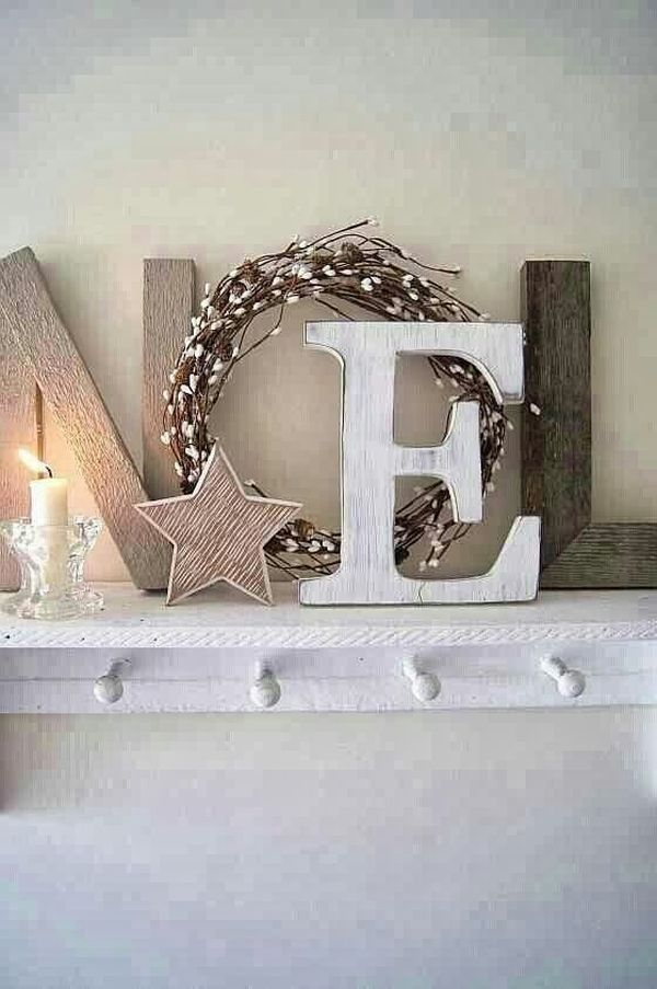 Festive Letter Decorations.