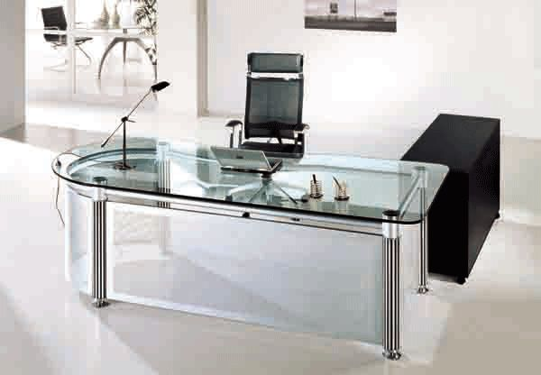 office desk glass. Office Desk Glass Homedit