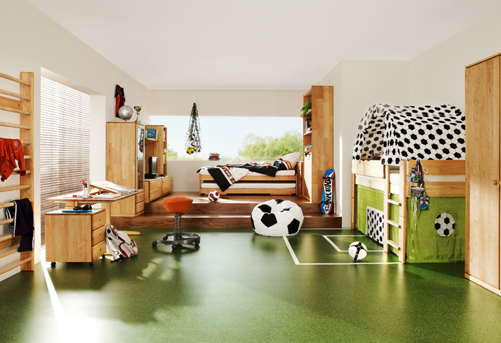 Football Themed Bedroom Delectable How To Decorate The Room Of A Football Fan Inspiration Design