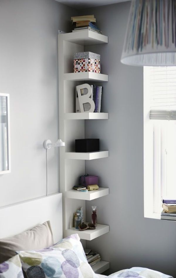 Attractive Install Shelves In The Corners.