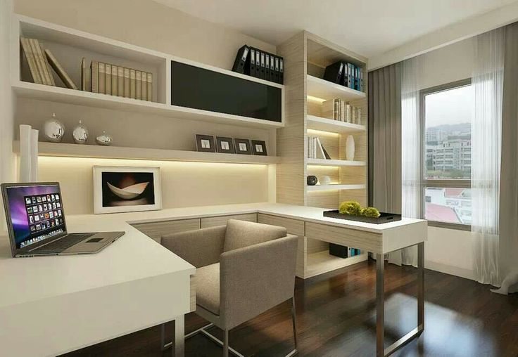 How to decorate and furnish a small study room for Den study design ideas