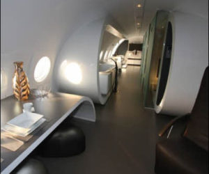 Airplane hotel suite