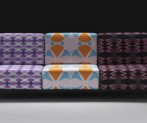 Steek Walnut Chair By Karim Rashid · Colorful Matrix Sofa By Karim Rashid