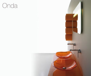 Onda bathroom vanity by Bandini