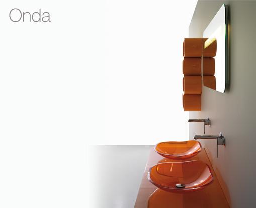 Onda bathroom vanity by Bandini