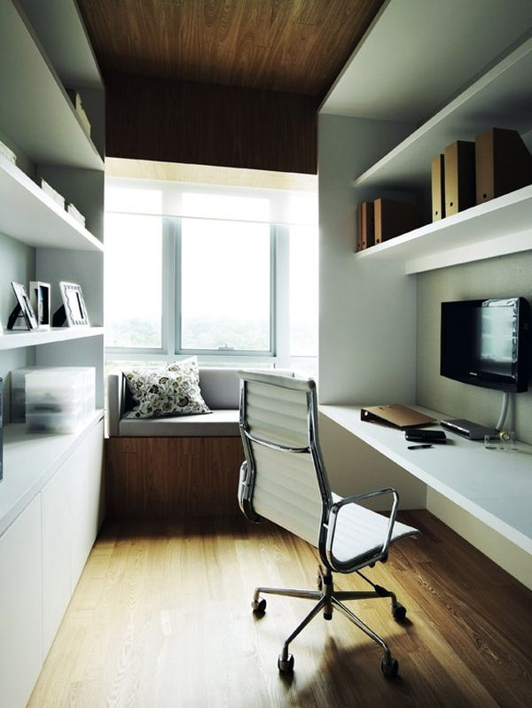 How to decorate and furnish a small study room for Narrow bedroom designs