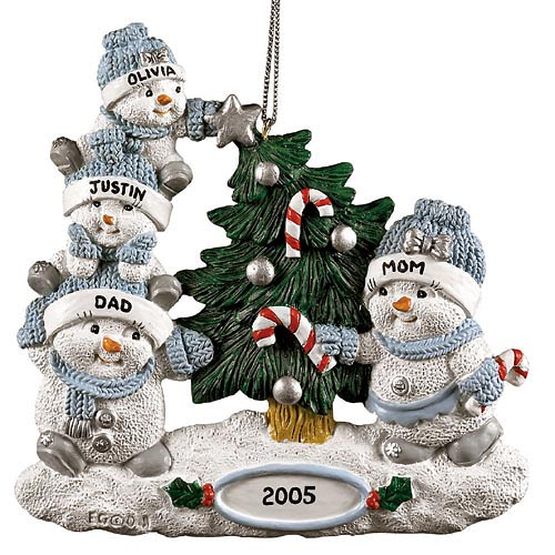 personalized snowbuddies family ornament