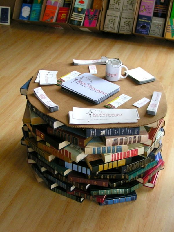 How To Choose Furniture That Would Look Awesome In Your Home Library - Coffee table that looks like books