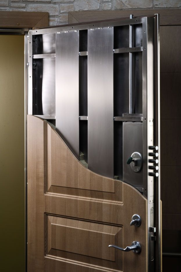 A few clever ways to conceal your home safe - Making a steel door look like wood ...