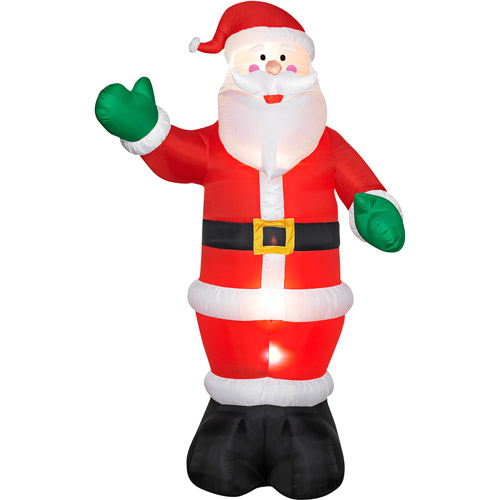 view in gallery airblown inflatable santa - Walmart Inflatable Christmas Decorations