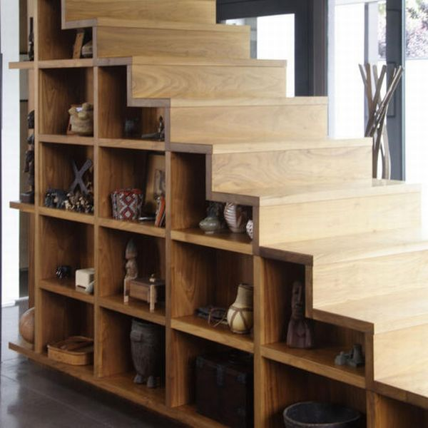 make use of dead space under the stairs Make Storage Ideas