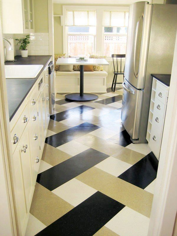 Useful Tips For Selecting Kitchen Flooring - Basket weave vinyl flooring