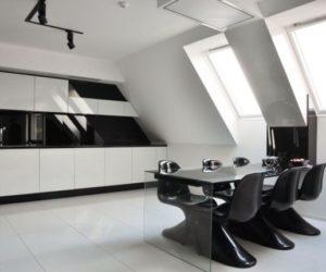 Black and White Minimalist Apartment Design by Jovo Bozhinovski