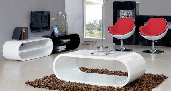 Perfect Black And White Contemporary Coffee Table
