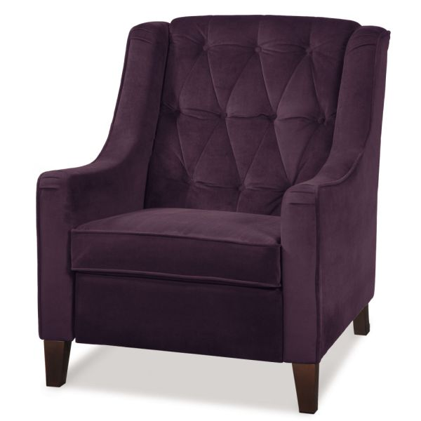 Superb Curves Tufted Chair In Purple And Chocolate Brown