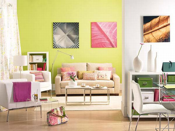 Colorful living room interior design ideas for Drawing room interior ideas