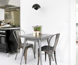 Kitchen And Home Interiors transitional white kitchen Industrial Danish Home Interior Design