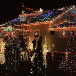 awesome outdoor christmas lights house decorating - Outside Lighted Christmas Decorations