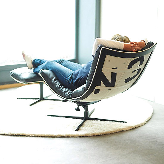 Attractive Spinnaker Chair Made From Recycled Boat Sails Photo Gallery