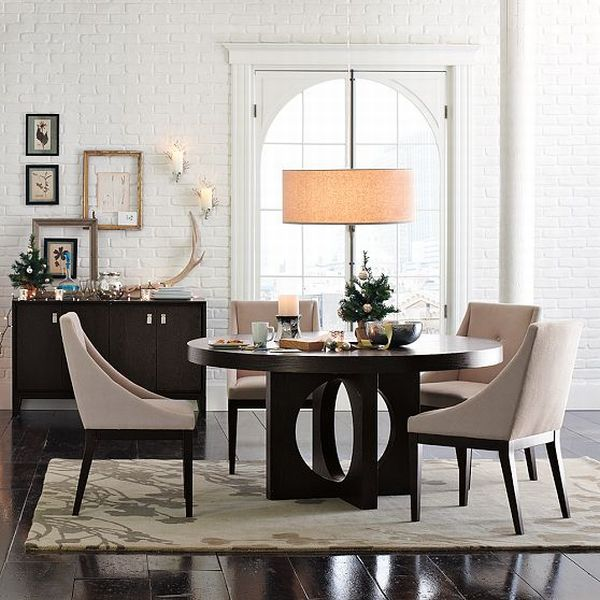 Contemporary Dining Room Ideas: Curved Upholstered Dining Chair