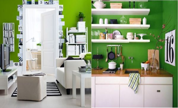 How to Decorate with Green, White and Black?