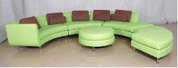 San Remo contemporary leather sofa