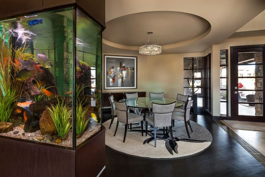Where to place the fish tank in the house - Fish tank dining room table ...