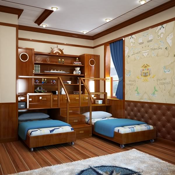 . Sea themed bedroom for the kids