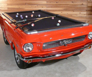 1965 Red Ford Mustang Pool Table