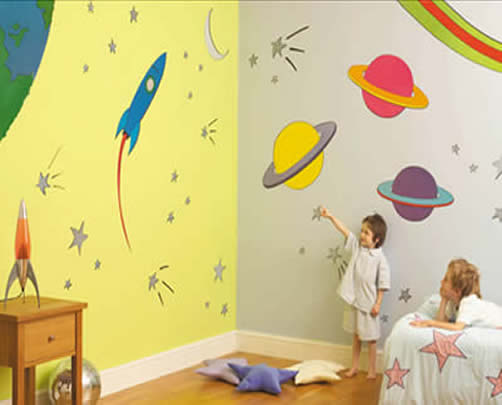 how to decorate a space themed bedroom for your kid