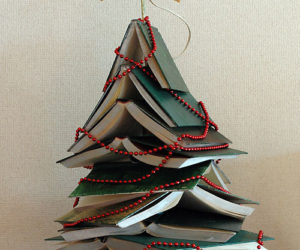 An Original Christmas Tree Made out of Books