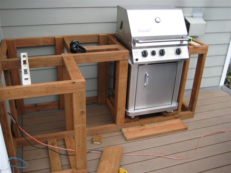How to build outdoor kitchen cabinets for Outdoor grill cabinet plans