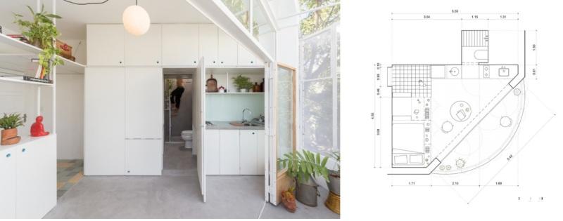 Studio Apartment with Luminous Area