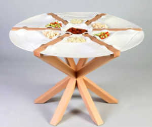 Kitchen Table Built From Plates