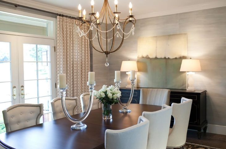 How to choose a chandelier for your dining room measure the table for chandelier aloadofball Image collections