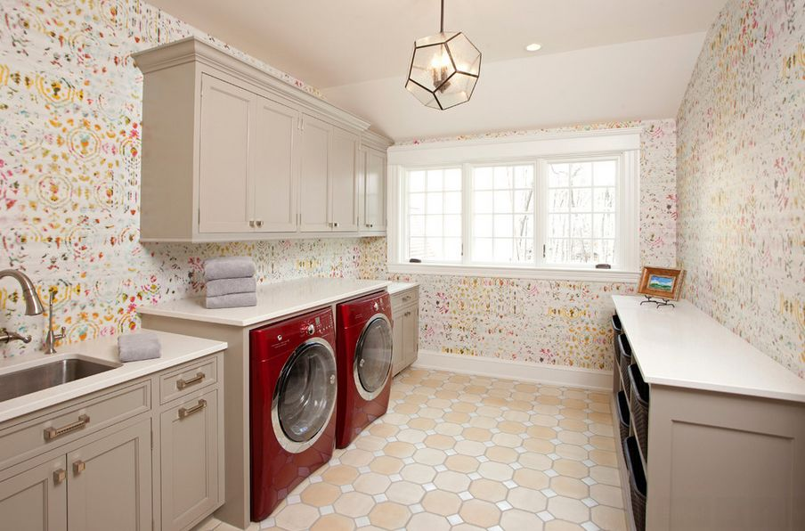 Laundry Room Wallpaper Pleasing How To Decorate The Laundry Room Inspiration Design