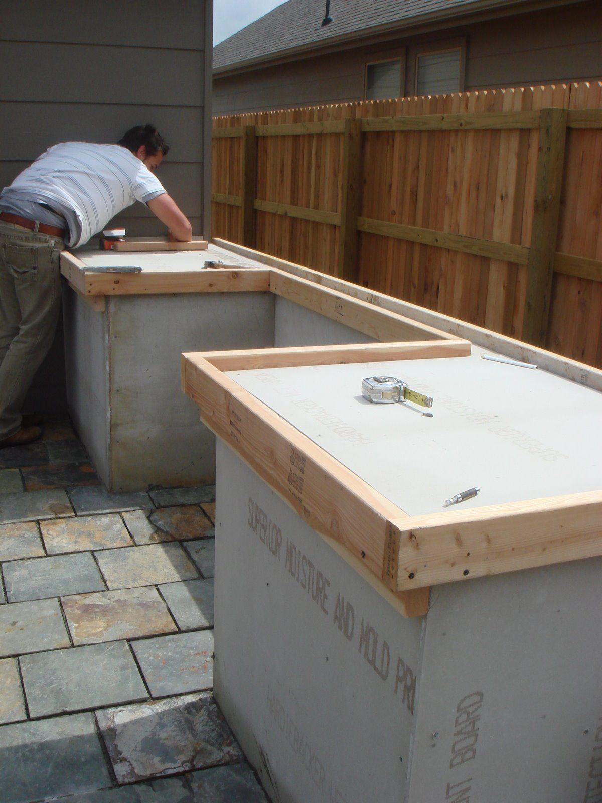 How to build outdoor kitchen cabinets for Building an outside kitchen